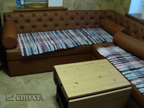 Большой составной диван для бани с механизмом кроватью и отсеком для хранения